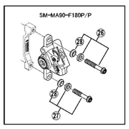 Shimano Satz Bef-Schrauben Für Bremssattel M6x36,3 Br-M987