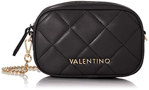 Mario Valentino Valentino by Damen Ocarina Umhängetasche, Schwarz (Nero), 5x11x18 cm