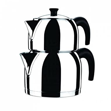 KORKMAZ Orbit 3.1 liter 18/10 Stainless Steel Turkish Teapot