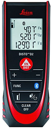 Leica DISTO D2 New 330ft Laser Distance Measure with Bluetooth 4.0,...