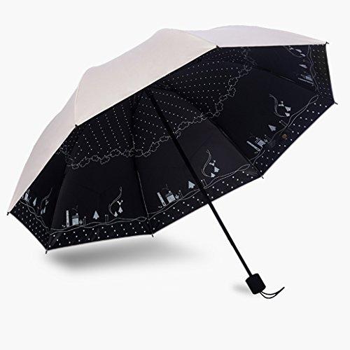 Regenschirm mit doppeltem Verwendungszweck Sonnenschirm Sonnenschutz UV-Schutz Korea klein frisch faltbar g