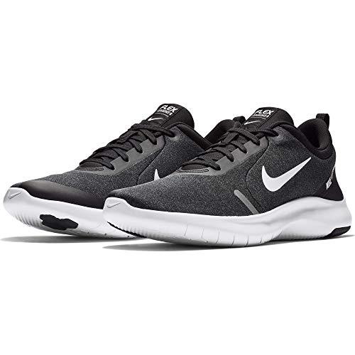 Nike Herren Flex Experience RN 8 Laufschuhe, Schwarz (Black/White/Cool Grey/Reflect Silver 013), 45 EU