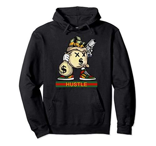 T-shirt da regalo per amante del rap hip-hop di Wall Street Felpa con Cappuccio
