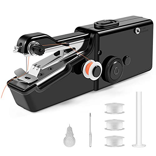Mini Máquina de Coser, máquina de Coser de Mano, Máquina de Coser Portátil Eléctrica Inalámbrica Adecuada para Varios Tejidos Accesorios de Costura de Bricolaje Máquina de Coser de ReparaciónRápida