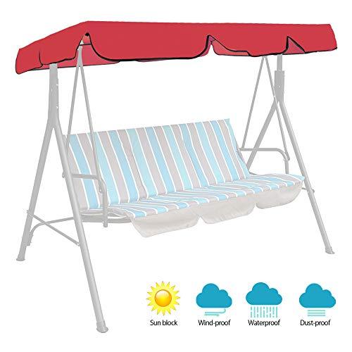 Relax Love, Ersatz-Dach, 164 x 114 x 14 cm, wasserdicht, Sonnendach für Hollywoodschaukel für den Garten, UV-Schutz, wasserfest 164*114*14cm rot