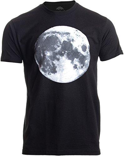 The Moon | NASA Photography Astronomy Space Nerd Full Luna for Men Women T-Shirt-(Adult,S) Black