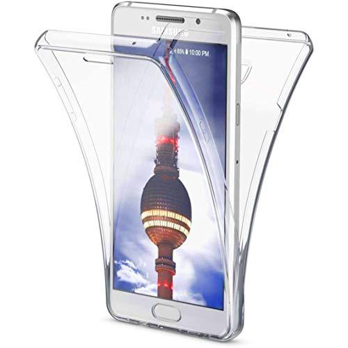 NewTop - Carcasa para Samsung Galaxy A3/A5/2016/2017, carcasa Crystal Case de TPU silicona gel PC protección 360 ° frontal retro completa
