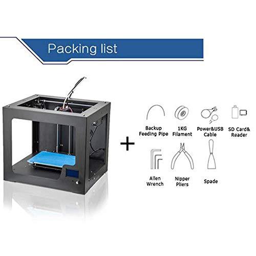 ZHTY Imprimante 3D DIY Portabilité personnelle Imprimantes 3D, Format d'impression 310x210x210mm ABS/PLA/Bois/Nylon PVA/PP/Lumineux