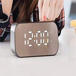 YANG1MN BYY Alexa Smart Speaker,Portable Wireless Speakers,Wireless Bluetooth Speaker Mini Subwoofer, Mirror Alarm Clock Smart Small Speaker-red_145x68x54mm,Portable Wireless Speakers,Smart Speaker Bl