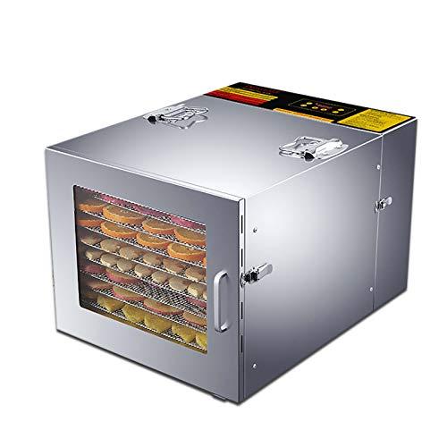 LiChaoWen Secadora de Frutas y Verduras Máquina De Frutas Secas Pequeñas De Acero Inoxidable Máquina De Frutas Y Verduras Secadora De Vegetales Alimentos De Carne De Deshidratación Secador De Aire