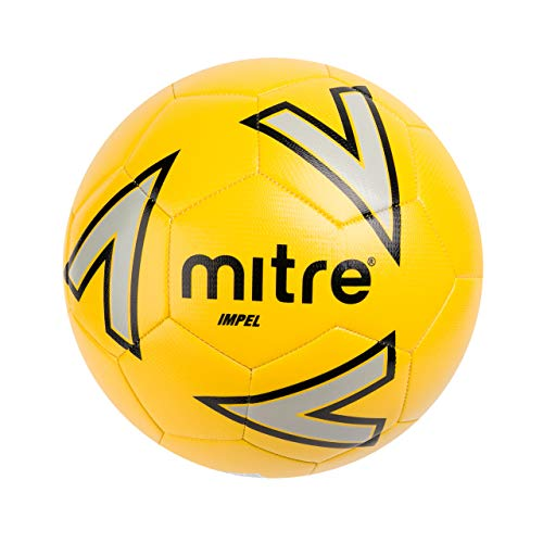 Mitre Impel Trainingsfußball, Yellow/Silver/Black, 4