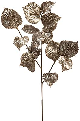 """Arcadia Silk Plantation 32"""" Coleus Leaf Spray with 14 Leaves Antique Silver (Pack of 6)"""
