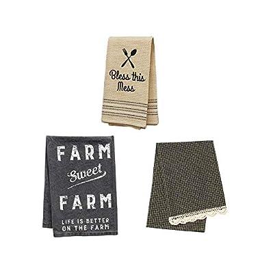Farmhouse Decor, Farmhouse Dish Towel Set, Farmhouse Kitchen Decor, Sweet Farmhouse Bundle
