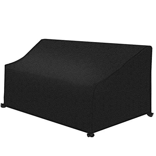 INMUA Gartenbank Abdeckung 3 Sitzer Wasserdicht, Schutzhülle für Gartenbank Winddicht, UV-beständige 420D Oxford-Gewebe (66 X 63 X 89/163 cm)