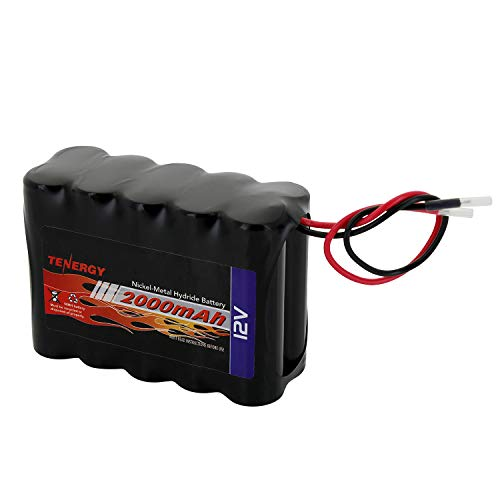 Tenergy NiMH Battery Pack 12V 2000mAh High Capacity Rechargeable Battery w/Bare Leads Replacement Battery Pack for DIY, Medical Equipments, LED Light Kit, RC Models, Portable 12V DC Devices and More