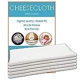 Edenwood Paño de queso de grado 90, 100% algodón blanco para hacer quesos, mermeladas, decoraciones de Halloween, limpieza – 5 yardas