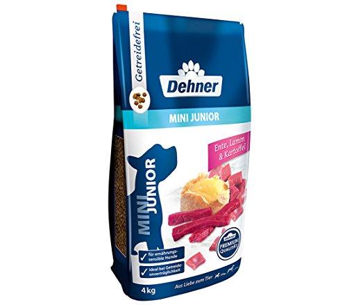 Dehner Premium Hundetrockenfutter Mini Junior, Ente und Lamm mit Kartoffel, 4 kg