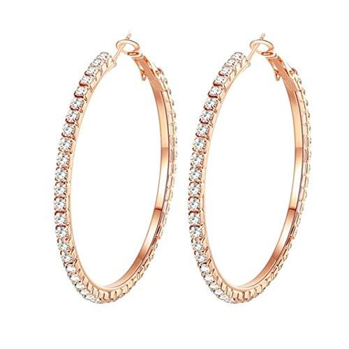 VN Trends Bling Bling Stunning Diamante Crystal Hoop Earrings, Large Crystal Hoop Earrings 9cm