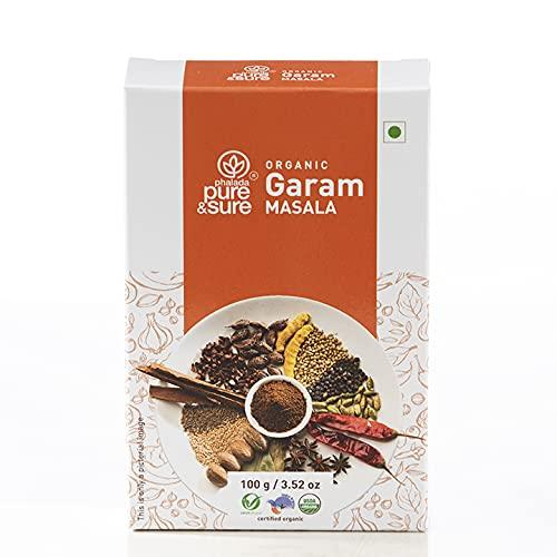 Pure & Sure Organic Garam Masala Powder   Delicious & Aromatic Garam Masala Mix   Curry Masala Powder, 100g