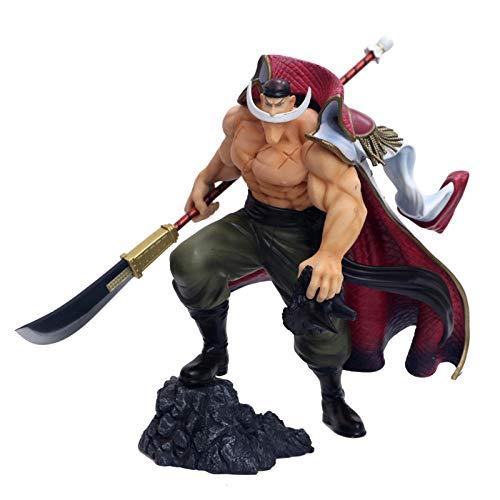MNZBZ Anime One Piece Big Size Cuatro emperadores Barba Blanca Daddy Edward Newgate MAX Figura Modelo Juguetes 30cm