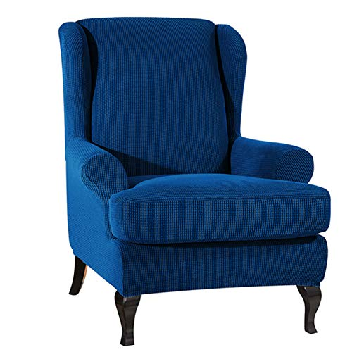 Galapara Sesselbezug, Stretchhusse für Ohrensessel, Stoff, dunkelgrau (optionale Farbe)