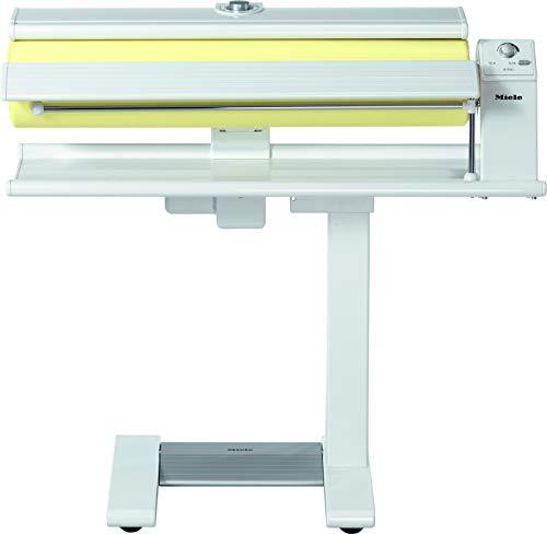 Miele B 990 Bügelmaschine / hoher Anpressdruck / breite Bügelwalze / variable Walzengeschwindigkeit / freies Walzenende / Lotosweiß