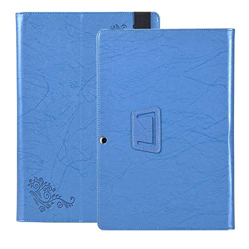 Tablet Case for Lenovo Miix 520 Case, Print Pattern PU Leather Folding Stand Cover for Lenovo Miix520 12.2 inch (Blue)