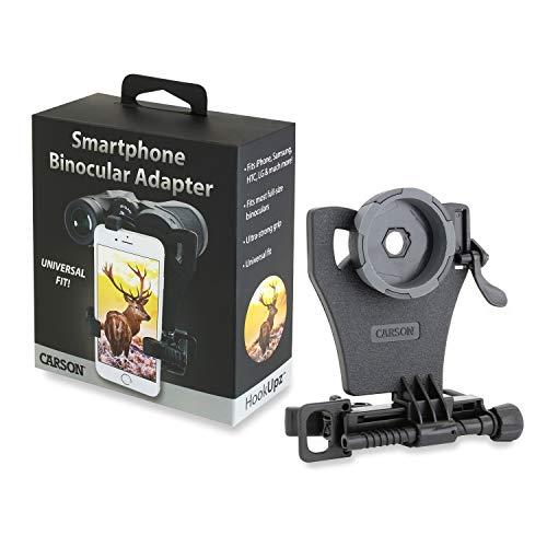 Carson HookUpz Universal Smartphone Digiscoping Adapter for Most Full Sized Binoculars (IB-700), Black, xx-Large