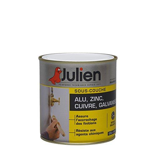 Sous-couche JULIEN pour alu, zinc, cuivre, galvanisé - Blanc Mat 0,5L