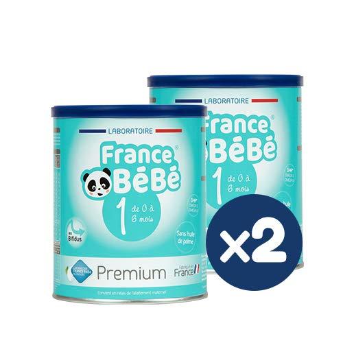 FRANCE BéBé PREMIUM - Lait bébé 1er âge en poudre - Boîte de lait infantile en poudre pour Nourrisson de 400 gr - Lait fabriqué en France avec du lait français (2 boîtes)