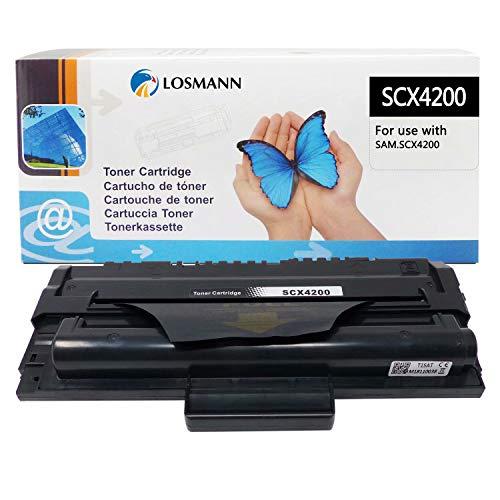 LOSMANN 1x Toner Kompatibel für Samsung Laserdrucker SCX-D4200A / ELS für Samsung SCX-4200 SCX-4200D3 SCX-4200F SCX-4200R, SCX-4200 D3 SCX-4200 F SCX-4200 R (Schwarz 3.000 Seiten Black)