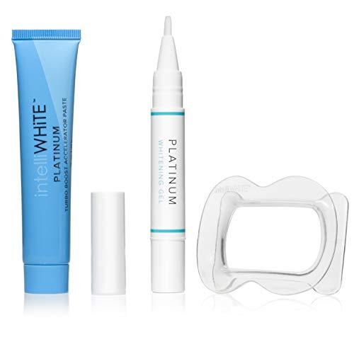 intelliWHiTE Platinum Turbo White Kit- No Sensitivity, Painless Stain Remover and Blocker, Easy To Use, Pearl White Teeth Whitening Treatment, Non Toxic, No Parabens, Cruelty-Free Vegan Formula, 1ea