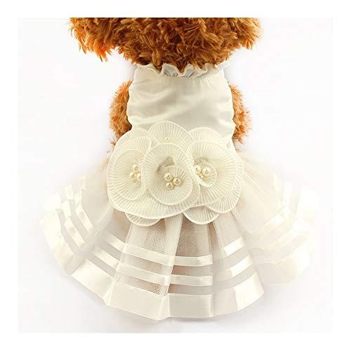 3°Amy Hundekleid Brautkleider for Hunde Pet Rock Kostüm Zubehör (Color : White, Size : XS)