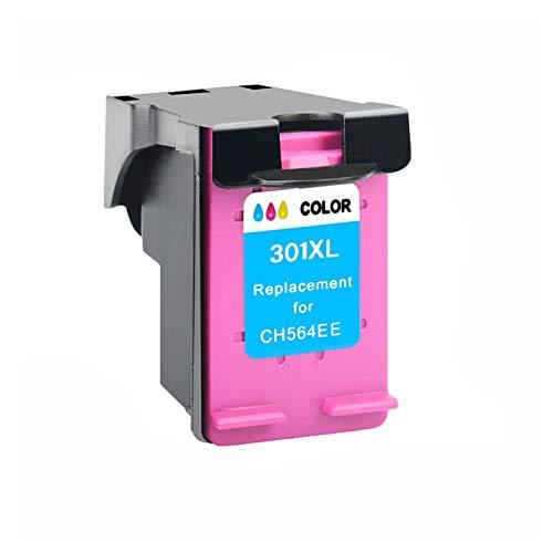 WTBH Cartucho de Tinta 1 Paquete de Cartuchos de Tinta, Compatible con HP 301301XL Tinta DeskJet 1050 2050 3050 2150 1510 2540 Impresora Llena de Tinta Reemplace el Cartucho de Tinta (Color : 1C)