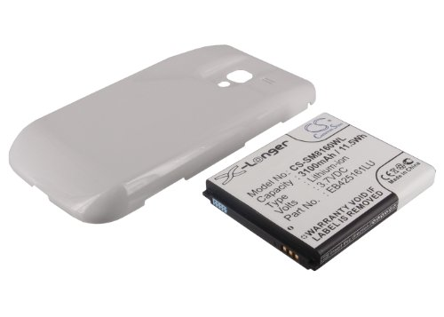 CS-SM8160WL Batería 3500mAh Compatible con [Samsung] Galaxy Ace 2, GT-I8160, GT-I8160P sustituye EB425161LU