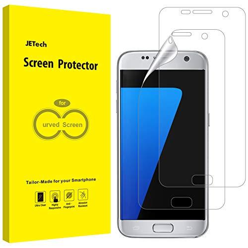 JETech Schutzfolie für Samsung Galaxy S7 (Nicht Geeignet S7 Edge), TPU Ultra HD Folie, Fall Freundlich, 2 Stück