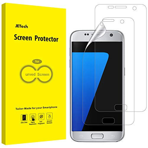 JETech Schutzfolie Kompatibel mit Samsung Galaxy S7 (Nicht Geeignet S7 Edge), TPU Ultra HD Folie, Fall Freundlich, 2 Stück