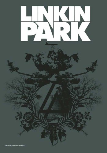 empireposter Linkin Park Flagge - Plan B - Posterflagge 100prozent Polyester Grösse 75x110 cm