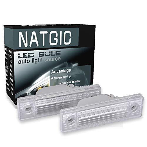 NATGIC LED éclairage de Plaque d'immatriculation Can-Bus Intégré étanche CanBus sans Erreur Plaque d'immatriculation Lumière LED Numéro de Plaque d'immatriculation Ensemble de Lampe (Lot de 2)