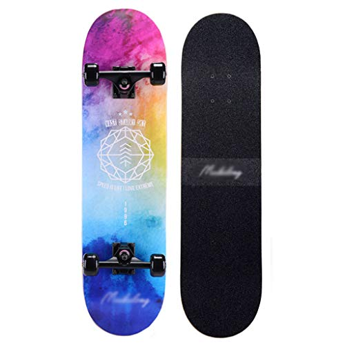 MKJYDM Roller Maple Long Board Pinsel Street Dance Board Vier Räder Doppel Skateboard Anfänger Teen Junge...