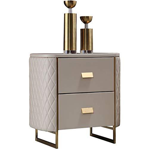 Simple Leather Art Bedside Table Artistic Atmosphere Bedside Cabinet Storage Cabinet Suitable for Bedroom Furniture
