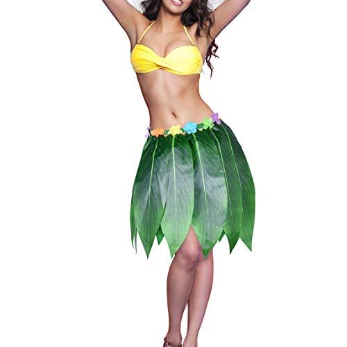 Womens Hawaiian Luau Hula Grass Skirt For Costume Party Events Elastic Waist