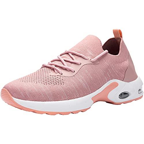 DYKHMATE Zapatillas de Deporte Mujer Air Running Zapatos para Correr Gimnasio Ligero Sneakers Deportivas (Rosa,41 EU)