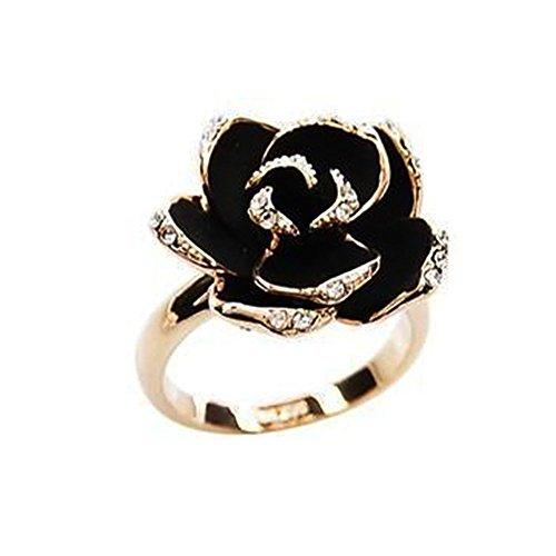 Demarkt Anillos Mujer Ajustable Retro Rose eröffnung anillos plata