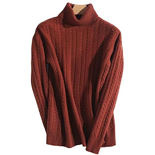 Suéter Para Mujer - 100% Cachemir De Cachemira Para Mujeres De Cuello De Tortuga, Suéter De Cuello De Tortuga Para Mujeres Patrón De Espiga De Trigo Jersey, Jersey De Suéter Cálido Espesante De