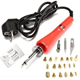 Generic 220V 30W Wood Burning 21 Pieces Soldering Tool Set Pyrography Kit Brass