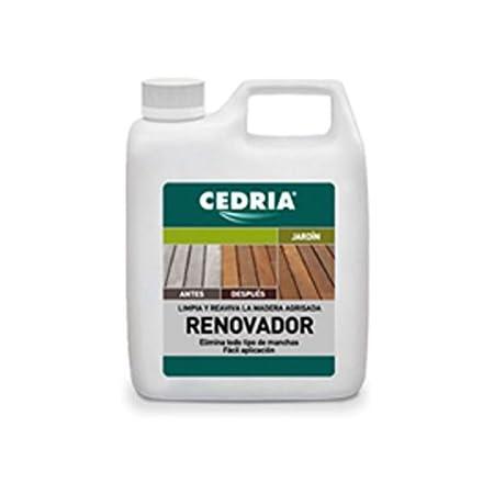 Renovador de la madera Cedria es un eficaz limpiador de maderas agrisadas debido a la expuesición al sol, al agua ya la humedad, además elimina ...