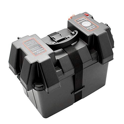 KKmoon Multifuctional Maschine 12 V Batterie Box USB Auto Ladegerät mit LED Voltmeter Bildschirm für Auto LKW Bootsanhänger RV
