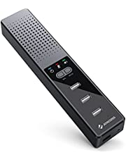 J JOYACCESS Computer Speakers with Microphone Hubs - PC Speaker with USB Hub for Desktop Laptop, Compatible with Windows/Mac, Plug & Play for Zoom/Skype/Online Teaching/Home Office
