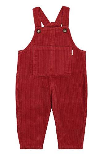Camilife Baby Kleinkind Jungen Mädchen Kordsamt Latzhosen Overall Kord-Latzhose Cordhose Haremshose für 1-4 Jahres alt Vintage Retro - Retro Rot Größe 90